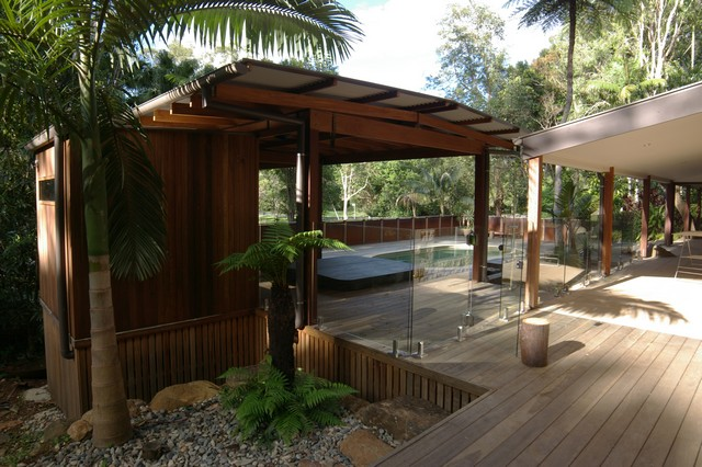 Spotted gum cladding | Figtree Pavilion Byron Bay | Gold Coast Architect | Jose Do Architect