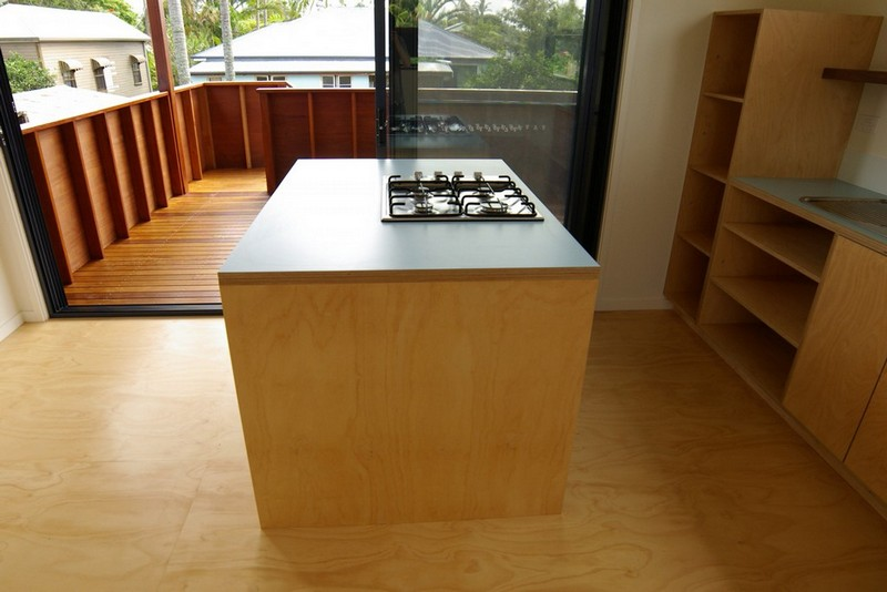 Plywood floor and kitchen | Mullumbimby Affordable Housing | Gold Coast Architect | Jose Do Architect