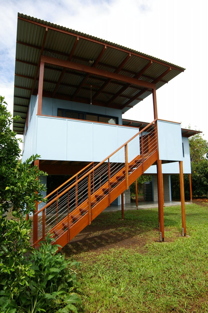 Entry stairs | Mullumbimby Affordable Housing | Gold Coast Architect | Jose Do Architect