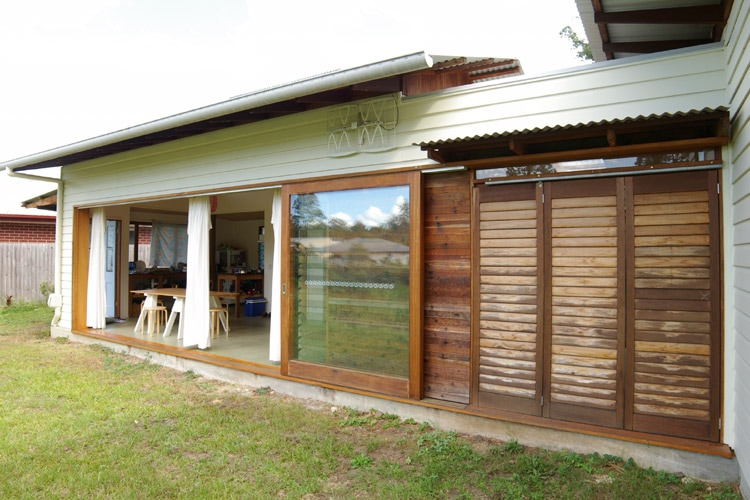 Western red cedar shutters | Tyalgum Village House | Gold Coast Architect | Jose Do Architect